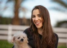 Laura Owens and dog